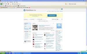 Upon landing on WordPress.com