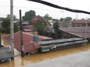 My parents' house in Liamzon Subd. in De Castro, Pasig during Ondoy