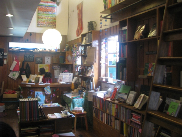 The quaint bookshop.
