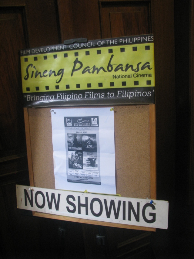 They're showing films in Cinematheque. There wasn't any showing scheduled when we went there, unfortunately.
