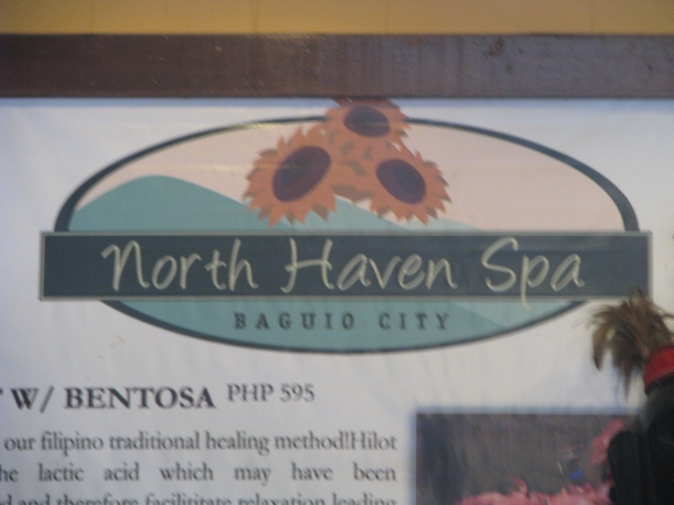 Hubby just took a picture of the signage. North Haven Spa is right above Cinematheque.