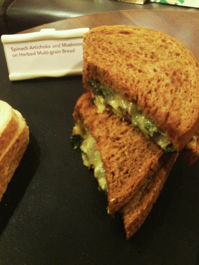Spinach Artichoke and Mushroom on Herbed Multigrain Bread