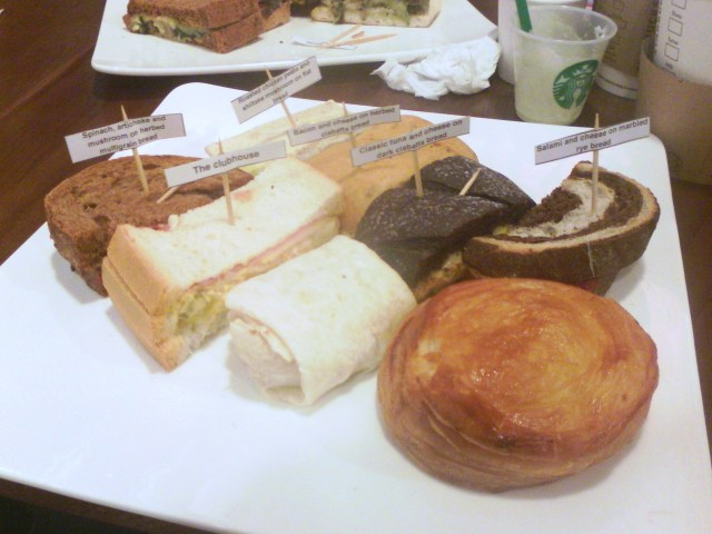 My platter of those appetizing treats