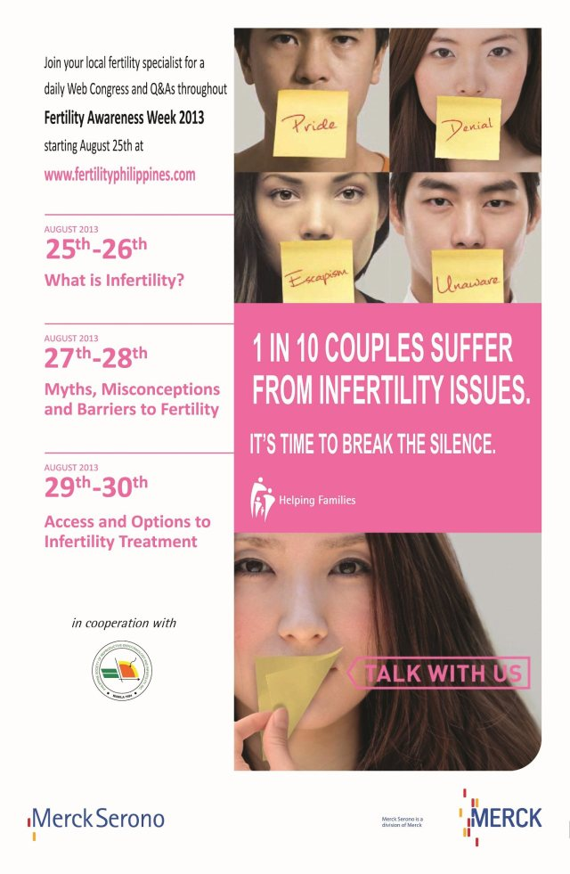 Fertility Awareness Week - August 25 to 31, 2013