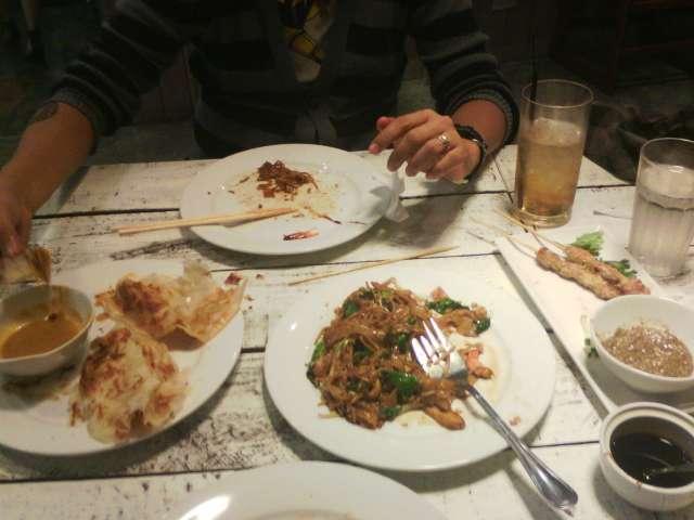 Shoot while eating. I love the Roti Prata!