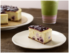 Blueberry-licious Cheesecake, now available again in the store.