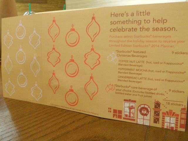 Starbucks 2014 Planner-Sticker Card