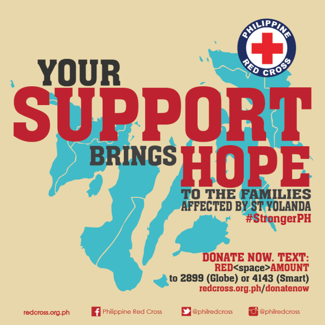 Philippine Red Cross for Yolanda victims