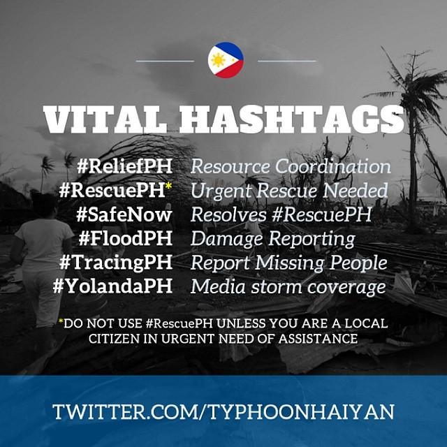 Typhoon Yolanda hashtags