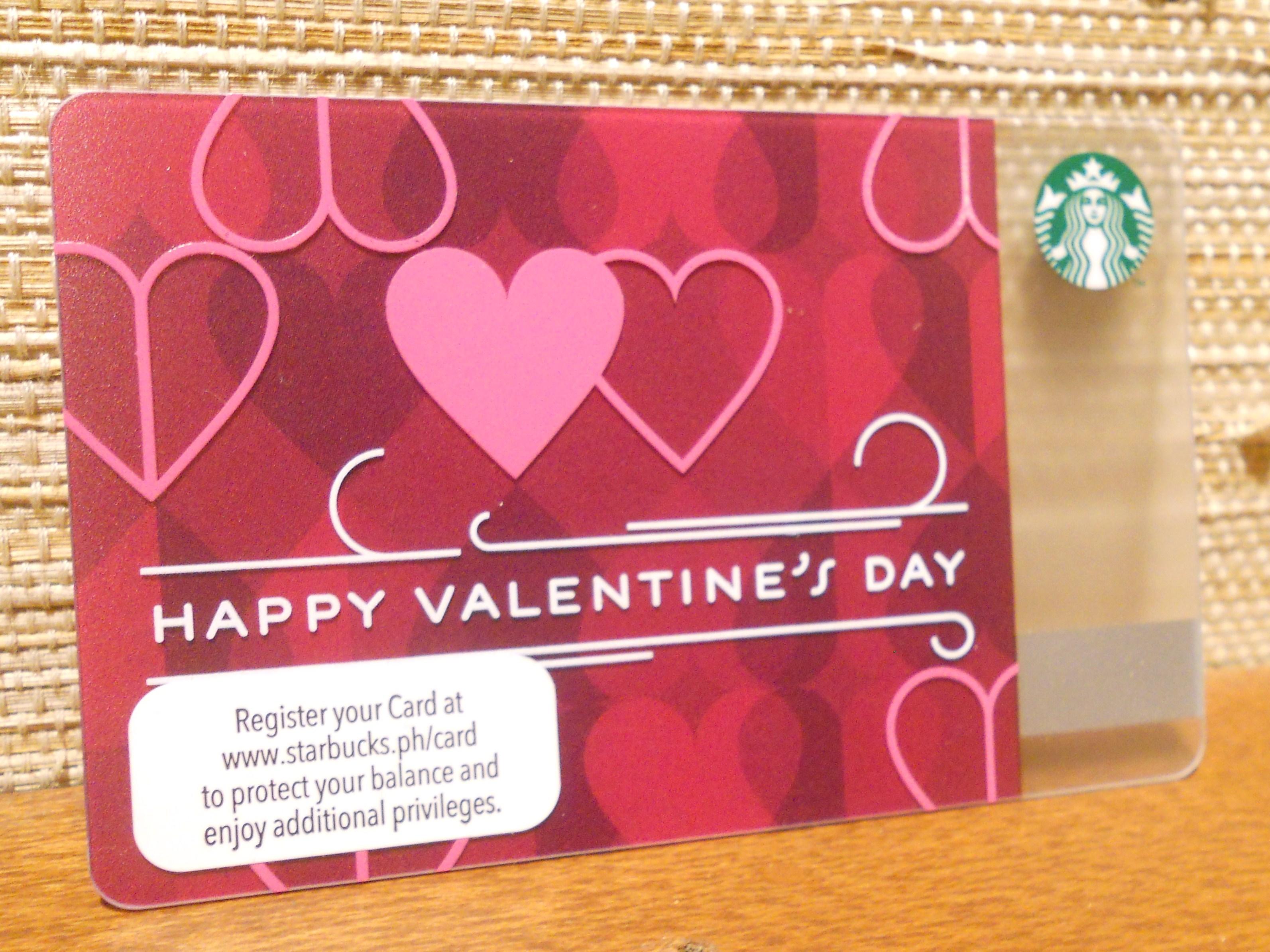 starbucks card valentines day