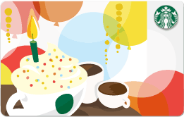 Starbucks Birthday Card