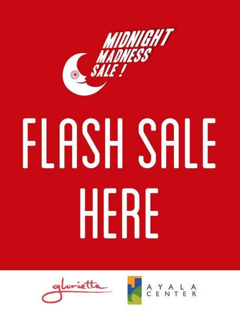 Glorietta Midnight Madness Sale - Flash Sale