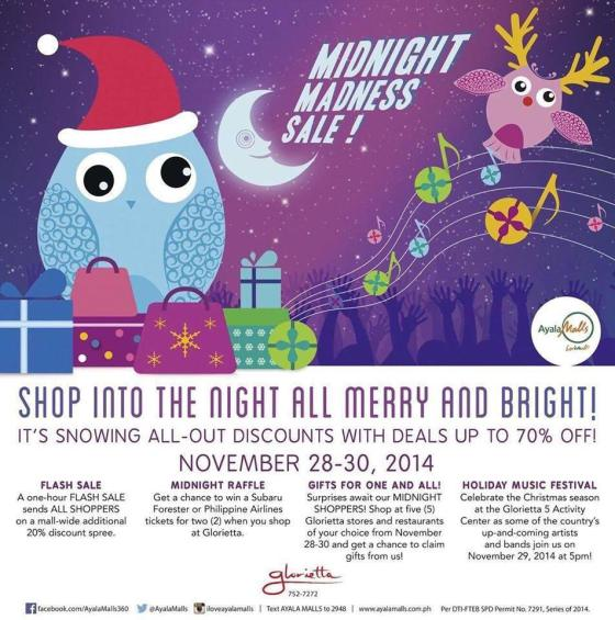Glorietta Midnight Madness Sale