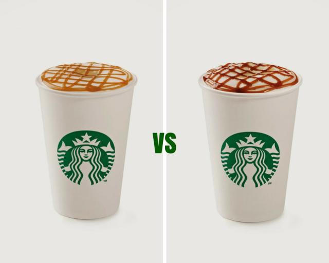 Starbucks Caramel Macchiato and Hazelnut Macchiato