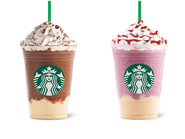 Starbucks Dark Mocha Panna Cotta and Summer Berry Panna Cotta Frappuccino Blended Beverages