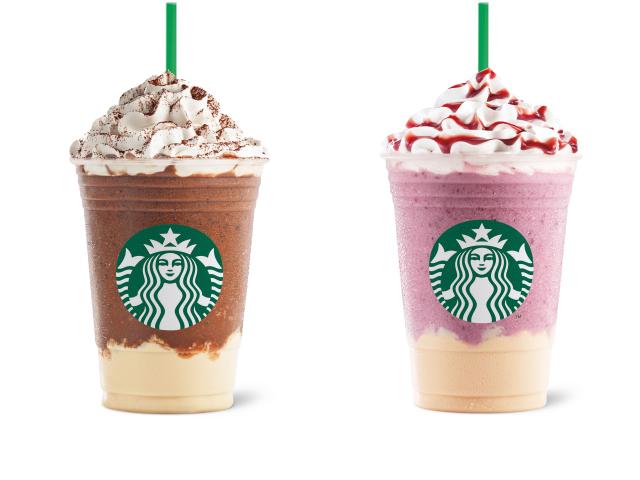 Starbucks Dark Mocha Panna Cotta and Summer Berry Panna Cotta Frappuccino Blended Beverages