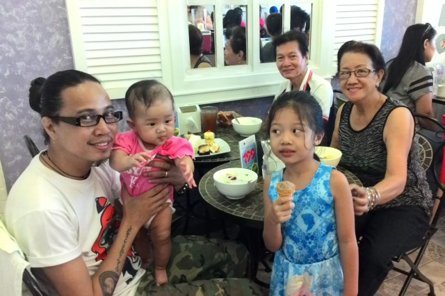 Hubby, the 2 kids, and my parents-in-law (and I, of course) enjoyed our dessert buffet