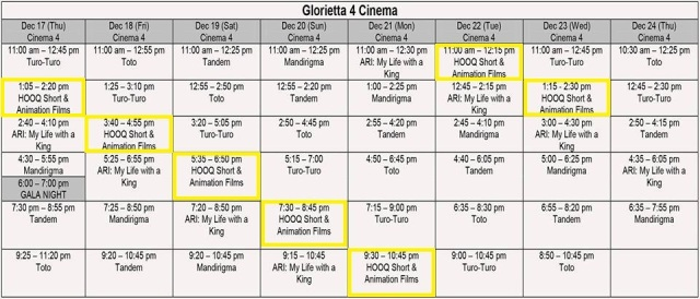 Little Lights Glorietta schedule