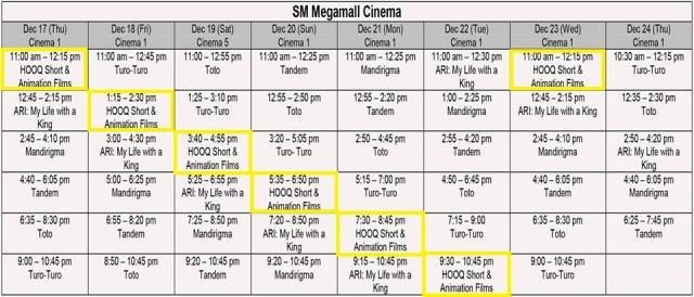Little Lights SM Megamall schedule