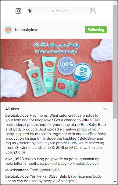 Belo Baby Instagram Contest