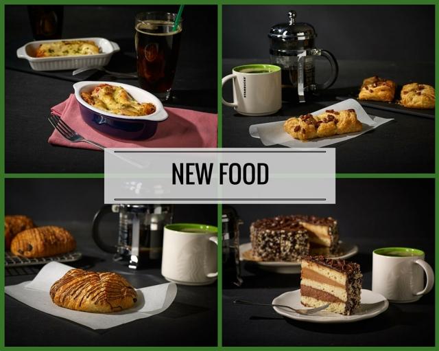 Starbucks Chicken Cannelloni, Maple Pecan Dish, Triple Chocolate Truffle Cake, and Pan Au Chocolat