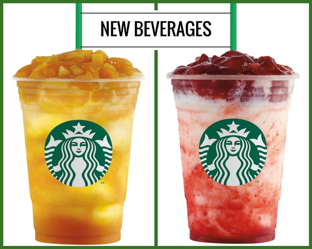 Starbucks Mango Fruit Jelly and Strawberry Fruit Jelly Yogurt Frappuccino Blended Beverages