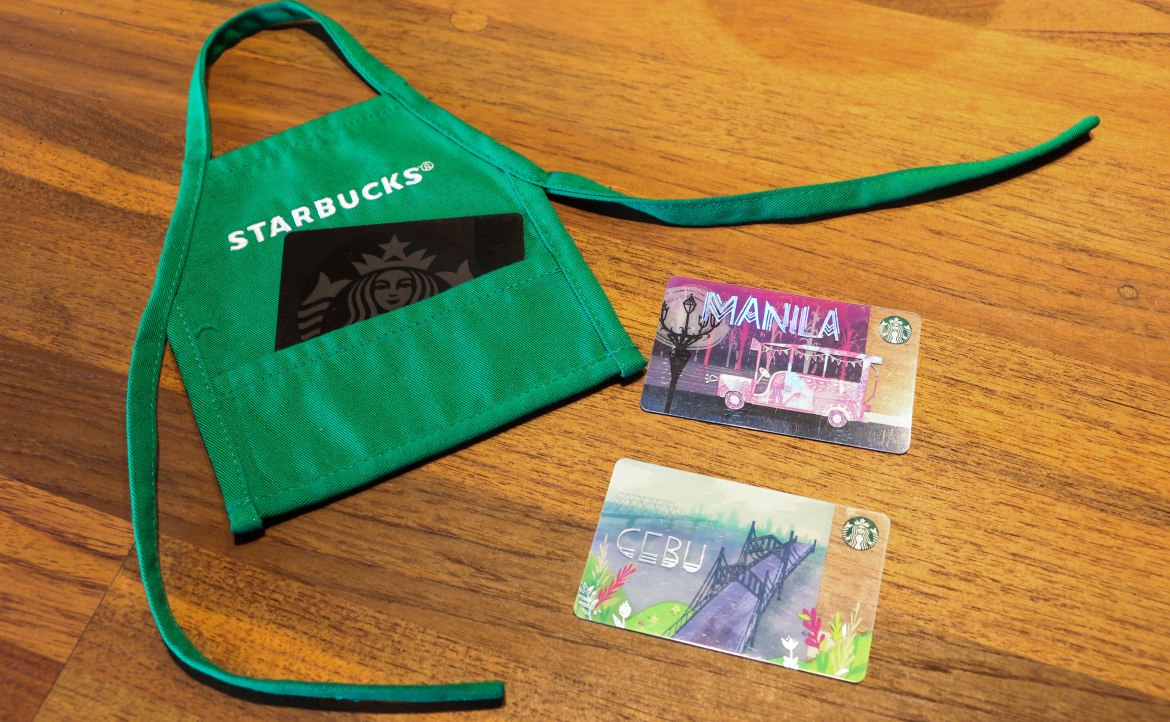 Starbucks Mini Green Apron Card Carrier